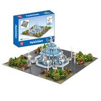 Creator City Series Angel Square со светодиодной подсветкой Усовершенствованная модель MOC Строительные блоки 2960 шт. Кирпичи Образование Игрушки Подарочная плеска король 16003
