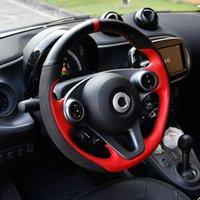 Lenkradabdeckungen Automotive Innendurchmesser 38 cm Auto DIY Echtes Leder für Smart 453 Fortwo Forfour Styling Zubehör
