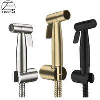 Bidet Faucets Brushed Gold Handheld Sprayer Black Toilet Seat Faucet Hygienic Shower
