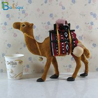 Babiqu 1 stück Simulation Tier Spielzeug Plüsch Gefüllte Kamel Puppe Home Decoration Requisiten Ornamente Geschenke Sammlbare Jungen Mädchen Geschenke