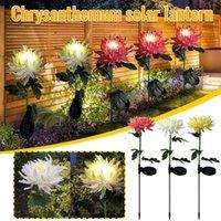 Decorative Flowers & Wreaths 3pcs Garden Decoration Solar Led Outdoor Lights Simulation Flower Lawn Light Plug-in Landscape