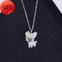 Shi Jia 925 Sterling Silver dog necklace benmingnian new cute pendant collar bone chain women's full diamond back cover
