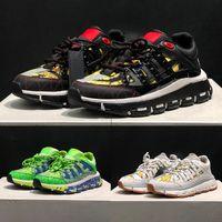أعلى إيطاليا TRIGRECA أحذية رياضية الرجال النساء عارضة الأحذية السوداء الفضة الأبيض الذهب اللثة طباعة عميق الأزرق الأخضر رمادي رجل المدربين 5.5-11