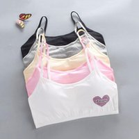 Camisoles & Tanks Young Girls Soft Cotton Push Up Bra Puberty Teenage Breathable Underwear Sport Training Bras For 8 9 10 11 12 13 14 15 16y