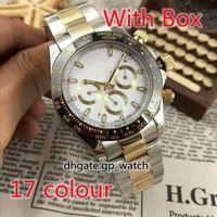 Orologio da uomo 40mm TF Factory AAA Multifunzione oro rosa oro in acciaio inox luminoso calendario impermeabile Sport di moda di alta qualità orologi meccanici automatici di alta qualità