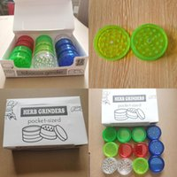 Dry Herb Grinder Round Tobao 12pcs set Smoking Grinders Smoke Detectors Acrylic Plastic With 3layer 60mm Cigarette Colorf Spice Mill pjlGfv