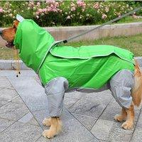 Dog Apparel Useful Large Raincoat Clothes Waterproof Rain Jumpsuit For Big Medium Small Dogs Golden Retriever Outdoor Pet Clothing Coat