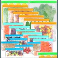 Armazenamento Housekee Organização Casa Gardenstorage Bags Zhang Ji 20 Pack Polietileno Acetato Reusável Alimentos Alimentos Almoço à Jóia