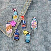 Reabellent Flasche Clean Spray Button Big Collection! Malen Sie Email Brosche Waschmittel Pin für Jacken Abzeichen