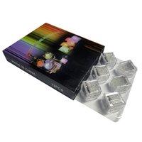 Светодиодные кубики льда бар Flash Auto Shanging Crystal Cube ночные огни, активированные водой света 7 цвет для романтической вечеринки свадьба Xmas подарок США