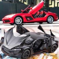 1:32 سيارة سبائك السيارات نموذج سيارة دييكاست الصوت ضوء سوبر سباق رفع الذيل عجلات لعب للأطفال هدايا الصبي لعبة