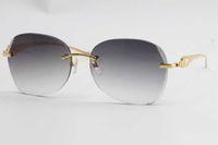 Vente en gros de lunettes de soleil de léopard en métal sans chasse en métal 3524012 Édition limitée Verres de bonne qualité Épaisseur de la lentille de la 3,5 UV400