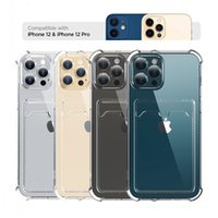 Card Bag Transparent Phone Case For iPhone 13 11 12 Pro Max XR XS Max X 7 8 SE2 Plus 12 Mini Shockproof Soft Bumper Clear Cover Precise Hole