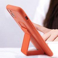 Soporte de soporte magnético Cajas de teléfono de la banda de mano para iPhone 11 12 PRO X XS MAX XR 7 8 PLUS HUAWEI P30 P40 MATE 30 40 SAMSUNG S10 S20 S21 Soporte de la cubierta de la muñeca