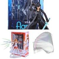 Espada arte en línea S.A.O Kirito Kazuto Figma 174 Asuna Figma 178 PVC Figuras de acción Juguetes X0522