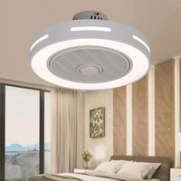 Ceiling Fans Decorative Led Lamps Home Ventilation Modern With Light And Silent Chandelier Remote Control Indoor