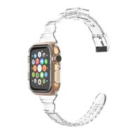 For Apple Shiny Watchband Strap Series 6 5 4 Clear Glacier Full Protective Watch Band
