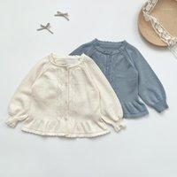 Baby Girls Sweater Spring Toydler Cardigan Coat Chaqueta de punto delgado Infantil BB651