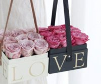 Flowers Box With Handhold Hug Bucket Rose Florist Gift Party Gift Packing Cardboard Packaging Box Bag New BWF8954