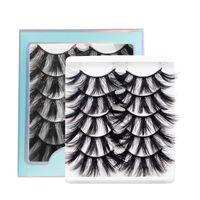 5 Paare 5D Nerz Haare Wimpern Set falsche Wimpern weiche Multi-Schicht verlängerte dicke Augenwimpern Verlängerung Make-up-Tool Schönheit Faux Peitsche