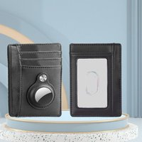Card Holders Men Wallet With Tracker Case Durable Ultra Slim PU Leather Pocket Travel Portable Minimalist Storage Holder Small Money