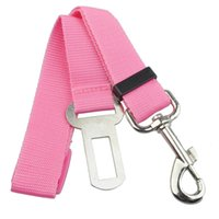 Dog Collars & Leashes Pink Car Vehicle Auto Seat Safety Belt Seatbelt For Pet