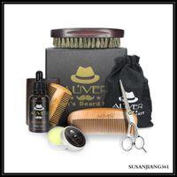 Epack Aliver натуральные органические бороды нефтяные воск бальзам ножницы щетка для волос продукты для волос уходят в кондиционер для мягкого увлажнения с розничной коробкой
