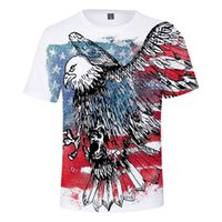 Men's T-Shirts Cool Classic Cauual Tshirt Boys girls Brand Designer Tops Creative Independence Day 3D Tshirts Women's Men's Summer S