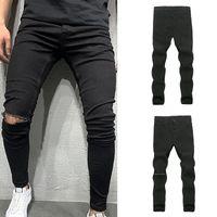 Men's Pants Fashion Denim Cotton Wash Hip Hop Work Trousers Jeans Casual Stretch Skinny Moletom Masculino
