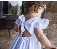 Girls dresses Toddler Dress cotton linen solid color princess tutu skirts Newborn Boutique Clothing