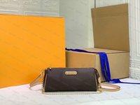 أعلى جودة إيفا جلدية حقيبة المرأة كليو mon0gram نحى حمل النايلون الفاخرة الشهيرة مصمم رجل المرأة crossbody الكتف أكياس الرجعية الأزياء حقائب اليد