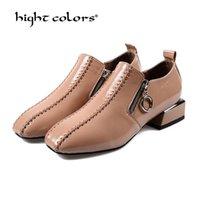 أحذية اللباس الربيع 2021 مضخات المرأة براءات الاختراع الجلود ol المتسكعون عارضة منخفضة الكعب الإناث الحلو المعادن معدنية قارب حجم 40 T9-50