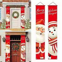 Papai Noel de porta de Natal Curtain Curtain Banner Hanging Bandeira Shopping Shopping Loja Decoração Doces Wll420