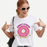 Śmieszne koszulki I tylko kobiety T shirt naprawdę miłość Donuts Graphic Print Femme Harajuku Kawaii Ubrania Lato Topy Tee