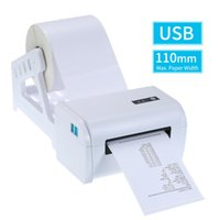 110mm Label Printer With Stand USB Cable High Speed Direct Thermal Receipt Maker Sticker Price Printing Printers