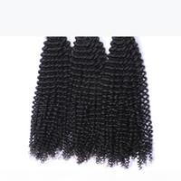 몽골 킨키 곱슬 버진 머리카락짜리 번들 처리되지 않은 아프리카 kinky 곱슬 몽골 레미 인간의 머리카락 확장 3pcs 로트 자연 색