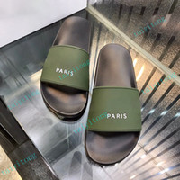 أعلى جودة الصنادل باريس المرأة النعال رجالي الرياضة شاطئ الشرائح الراحة عارضة الأزياء داخلي أحذية كبيرة مع مربع الأحذية 35-45