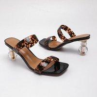 Sandals BRKWLYZ Square Toe Summer Women Shoes Pumps Dress High Heels Boat Wedding Tenis Feminino With Peep