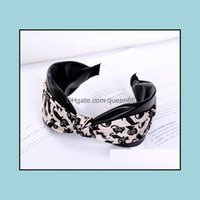 Jewelry Jewelrylovely Cats Print Headbands Pu Leather Hairbands Knot Adts Girls Wide Head Band Women Aessories Hair Hoop Drop Delivery 2021