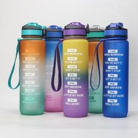 Water Bottles & Cages 1000ml Large Capacity Plastic Sports Kettle Outdoor Bicycle Riding Cup Portable Frosted Gradient Space