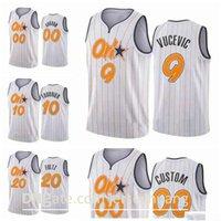 Пользовательские напечатанные мужчины Aaron Nikola Gordon Vucevic Evan Fultz Fournier 2020/21 Swingman City Баскетбол Джерси белый Icon Edition