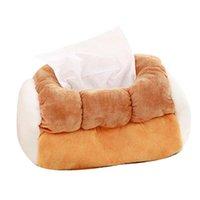 Boîtes de mouchoirs pour boîtes de ménage 1PC simulation pain grillé boîte de pain en peluche jouets en peluche