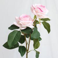 Decorative Flowers & Wreaths 5pcs lot Artificial Rose Silk Flower Home Party Decoration Wedding Small Bouquet Fake Roses DIY Wreath Flores