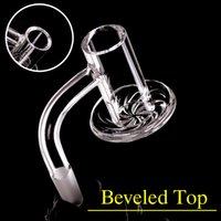 Курение Blender Blender Edge Quartz Banger для DAB BONG BONG COKAIN BLENDERS с мраморным Terp Pearls набор суставов 14 мм 10 мм толщиной мужской толщиной толщиной Banger