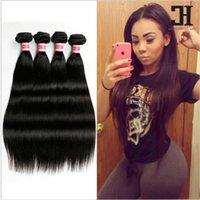 Straight Weave Virgin Peruvian Grade 100% Hair Human Bundles Products HC 4 7A Cacus