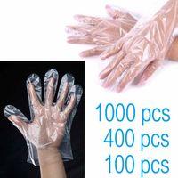 100 400 1000 шт. Пластиковая прозрачная перчатка прозрачная одноразовая перчатка для очистки кухня кухня