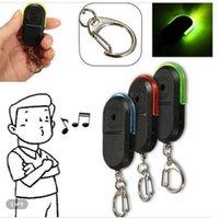 Collari per cani Guinzaglio wireless 10m Allarme Anti-Lost Alarm Whistle Sound Key Finder Locator Portachiavi con luce LED Mini Anti Lost