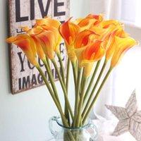 Calla Lily Bouquet de mariée 1pcs Longue branche Begonia Fleur Accueil Jardin Décoration De Mariage Partie de mariage Décoration Artificielle Décorative Fleurs Couronnes