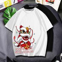 Luxury women's and T shirt Guochao Xingshi t-shirt fashion brand fat short sleeve pure cotton loose large summer ins hal