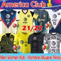Nuevo 21/22 Club America Camiseta de Fútbol Soccer Jersey Liga MX 2020 2021 Giovani Henry Martinez CASTILLO BENEDETTI Ochoa Hombres Mujeres Niños Kits Camisetas de fútbol